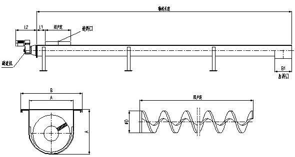 wls无轴螺旋输送机 / 基本结构